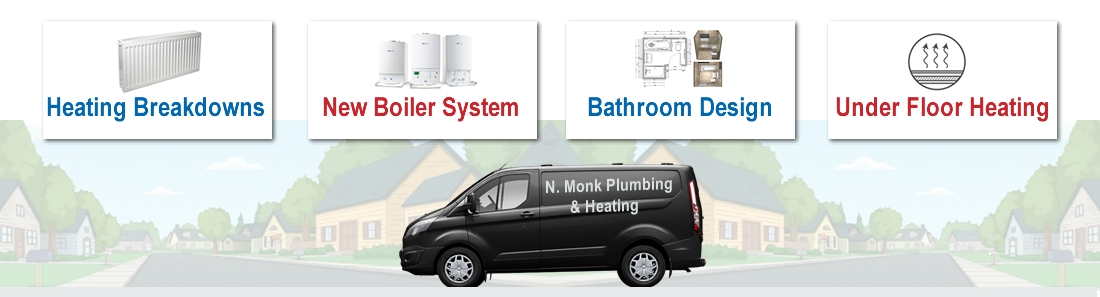N Monk Heating Boilers, Bathrooms